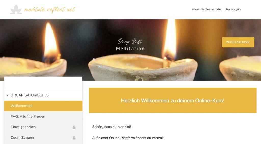 Deep Rest Tiefes Ruhen Meditationskurs