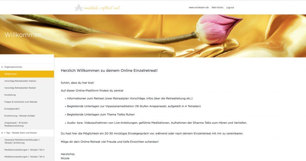Einzelretreat Vipassana Akademie