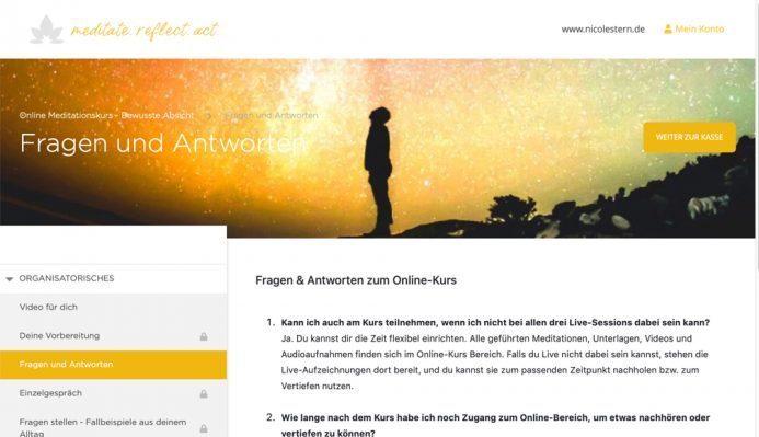 Online Meditation Kurs Absicht