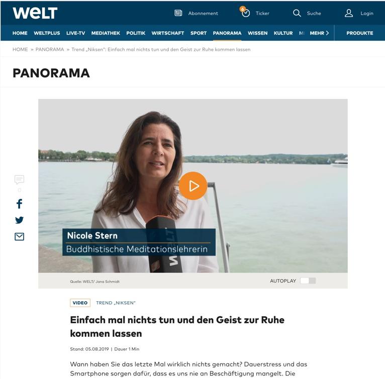Welt Nachrichten Nichtstun